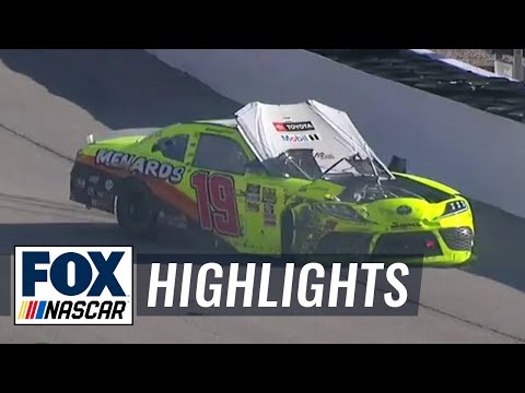 A violent hit for Brandon Jones in Las Vegas | FOX NASCAR HIGHLIGHTS