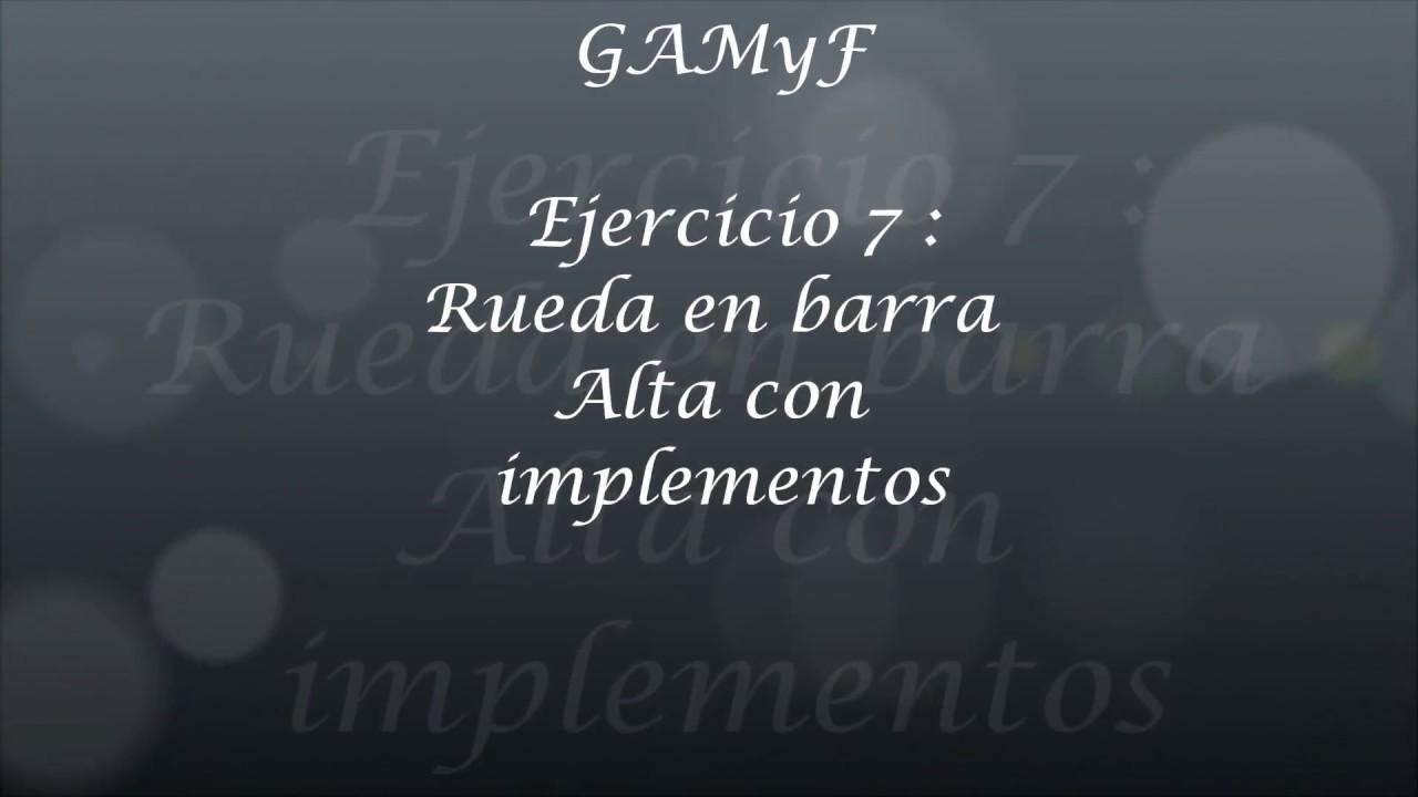 GAMyF progresión rueda lateral en barra de equilibrios