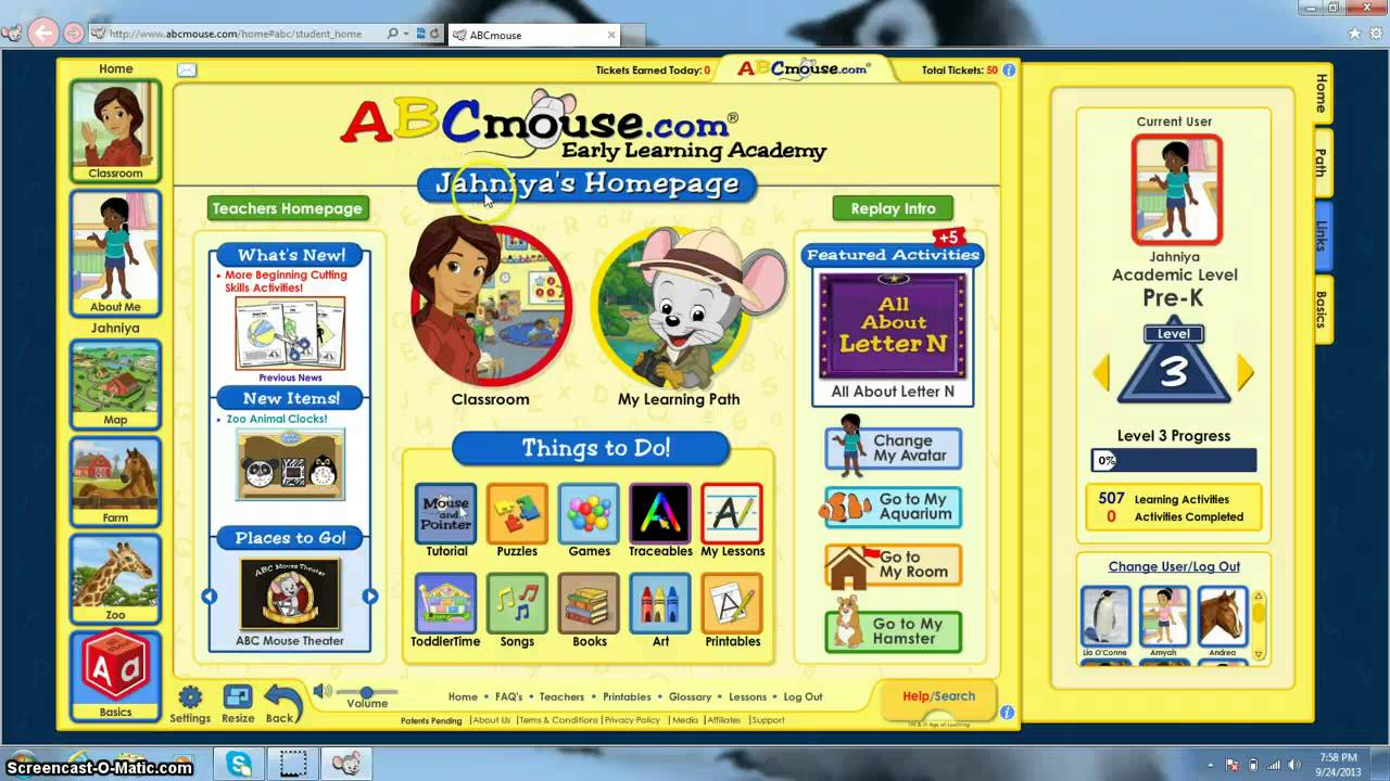 How to get to ABCmouse account