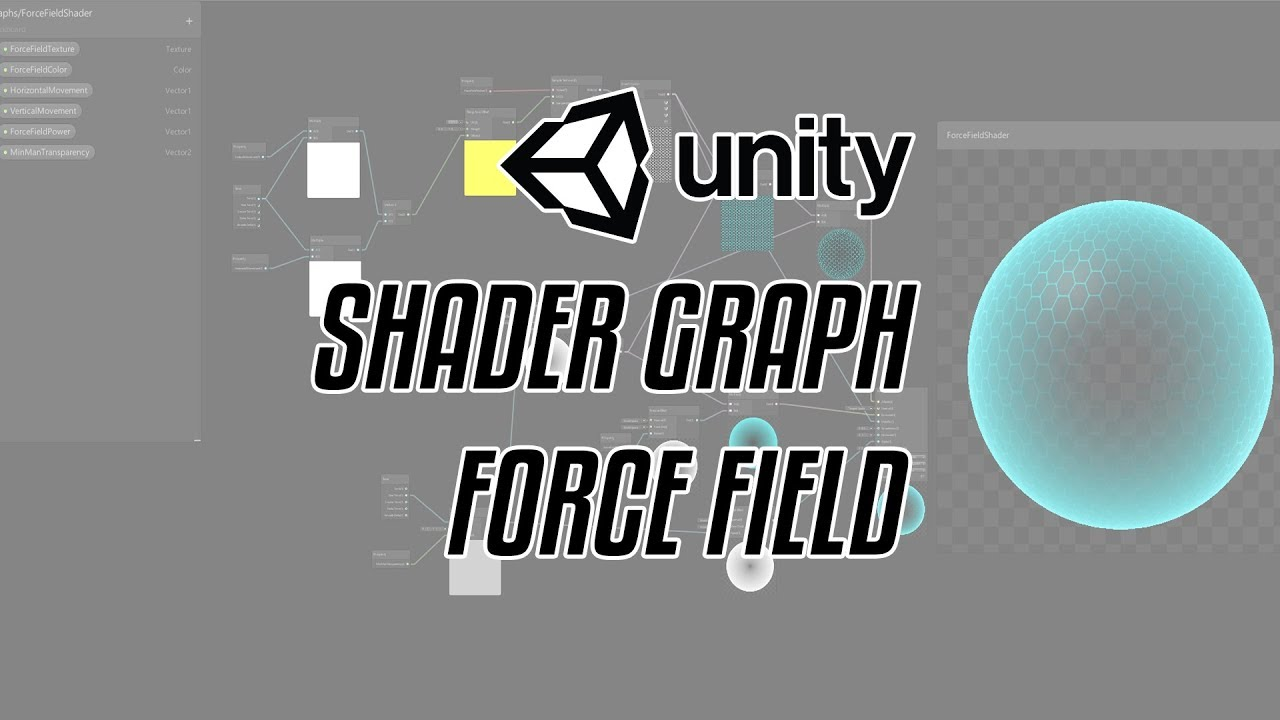 UNITY SHADER GRAPH - How to make force field effect shader