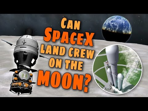 SpaceX Falcon Heavy's can land people on the Moon - Simulation in KSP