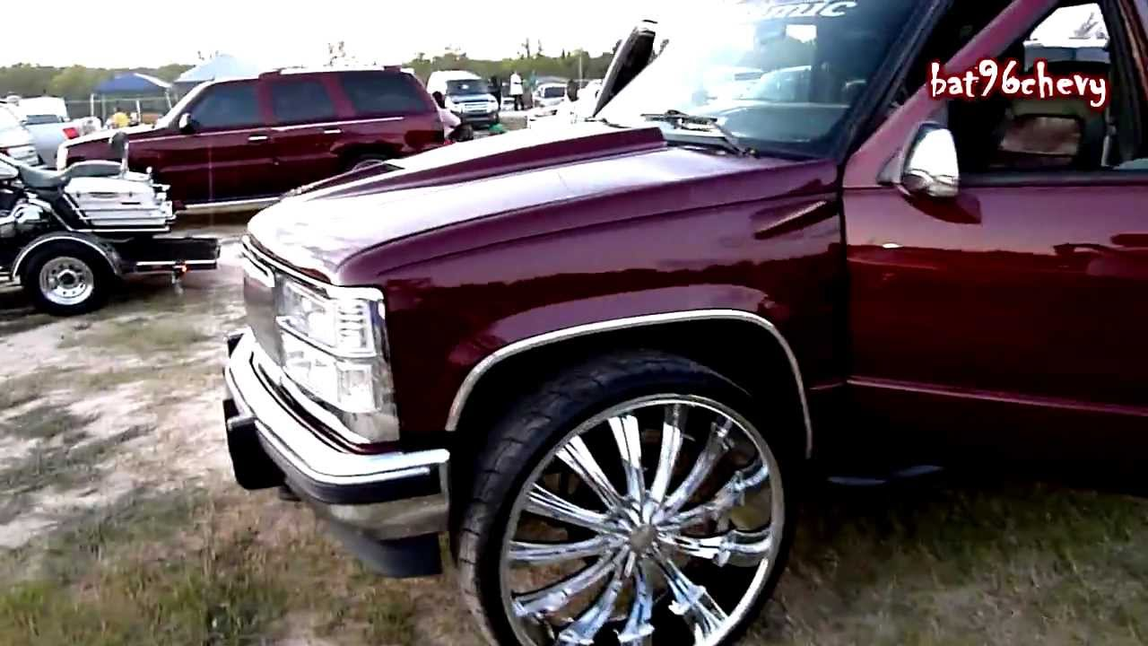 "Chevy Silverado z28 Truck on 28"" Bentchi Rims - HD - YouTube"