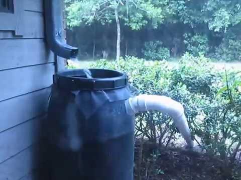 Rain Barrel Overflow Pipe