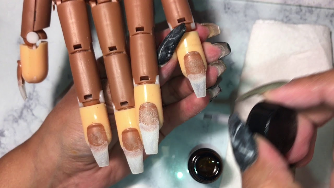 Acrylic Nails For Beginners|coffin Nails Tutorial - YouTube