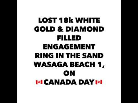 lost-18k-white-gold-engagement-ring-in-the-sand-at-wasaga-beach-1,-on-🇨🇦canada-day🇨🇦