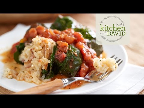 How to Make Risotto-Stuffed Collard Greens with Bacon