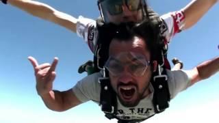 Waqar Zaka Sky dive in Dubai