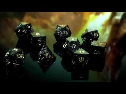 Vulcan Handmade Forged Carbon RPG Dice - DnD dice made from carbon fiber