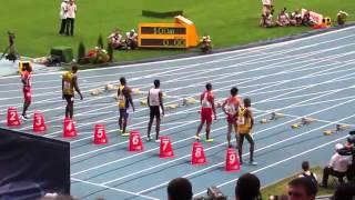 Забег на 100 метров   Усейн Болт Usain Bolt)  Чемпионат мира по легкой атлетике в Москве   2013