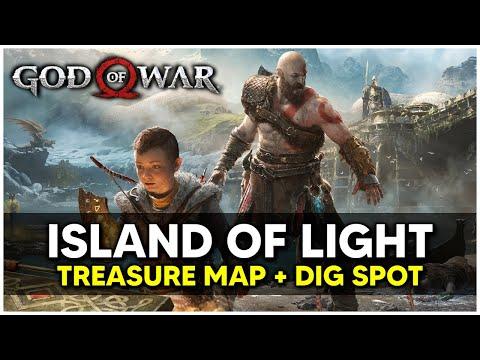 God Of War - Island Of Light Treasure Map + Dig Spot Locations