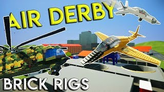 HUGE MULTIPLAYER AIR DEMO DERBY! - Brick Rigs Gameplay Challenge & Creations
