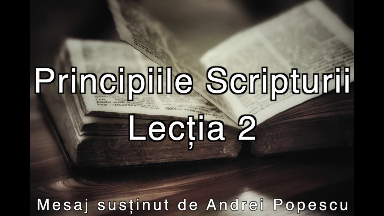 Principiile Scripturii - Lectia 2
