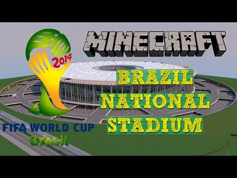 (OLD VERSION)Minecraft - MEGABUILD - Estadio Brasilia + DOWNLOAD - Brazil's National Stadium