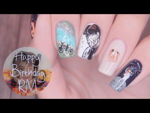 RM Day Nail Art Tutorial   namjooning 🐨🍃🤢 thumbnail