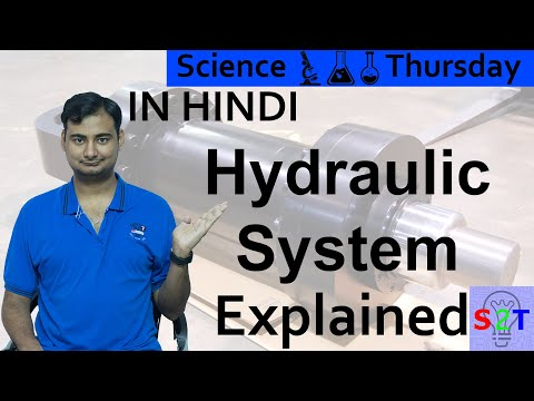 Hydraulic System Explained In HINDI {Science Thursday}