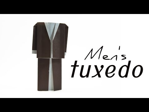 How To Make a Paper Tuxedo | Paper Clothes