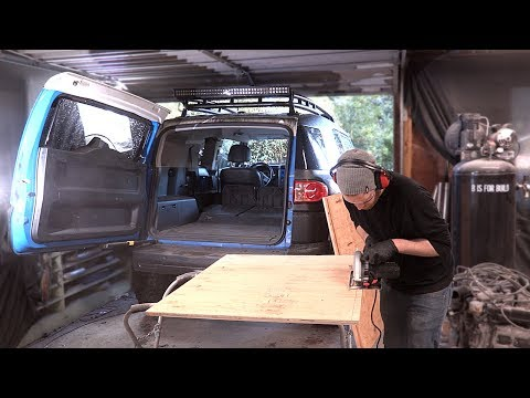 FJ Cruiser Build Pt 10 - DIY Collapsible Bed In The Back Of The FJ!
