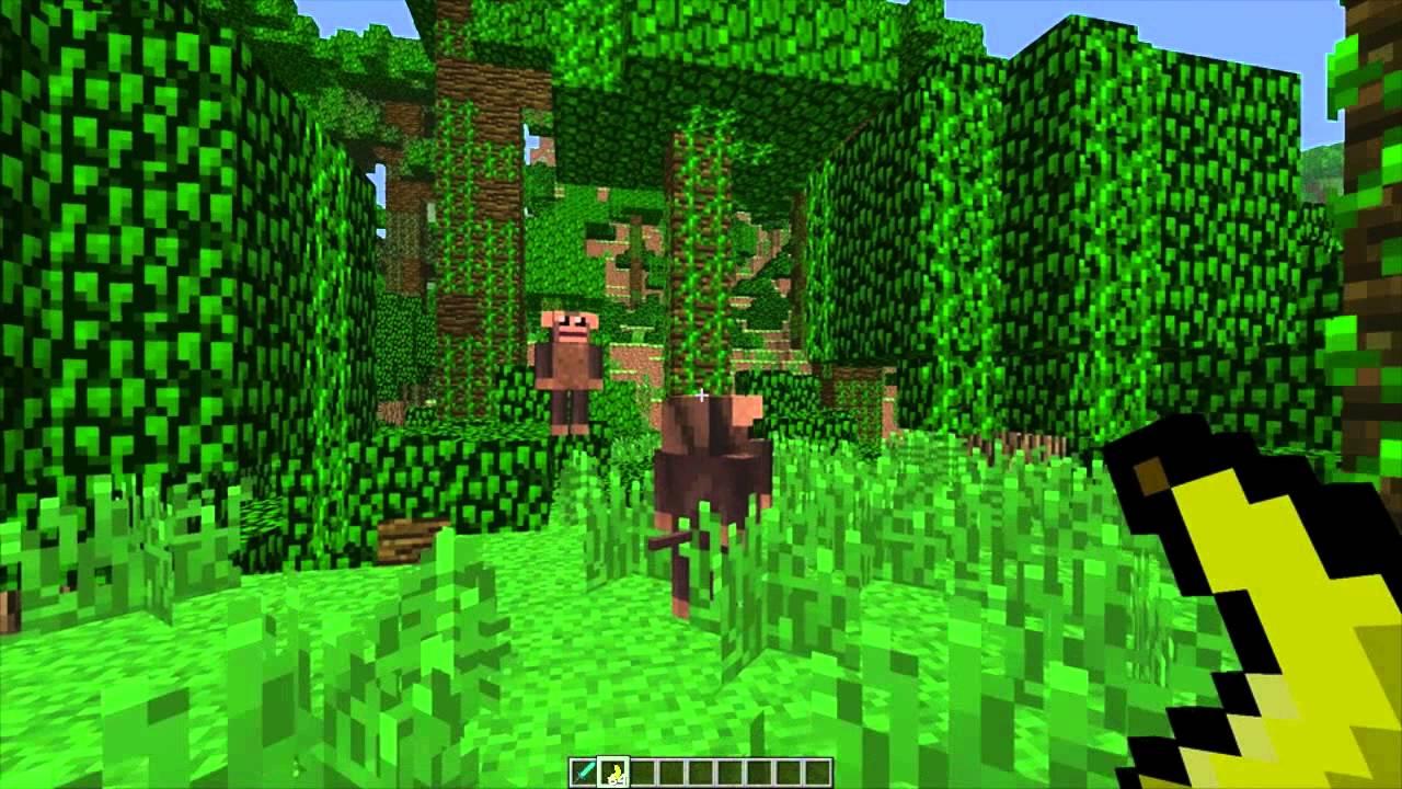 MineCraft 14 Snapshot 12w38a Monkeys In Jungles YouTube