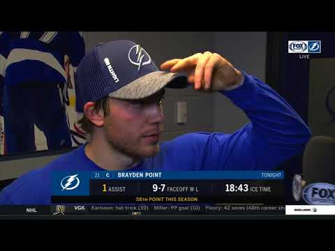 Brayden Point -- Tampa Bay Lightning vs. Edmonton Oilers 03/18/2018