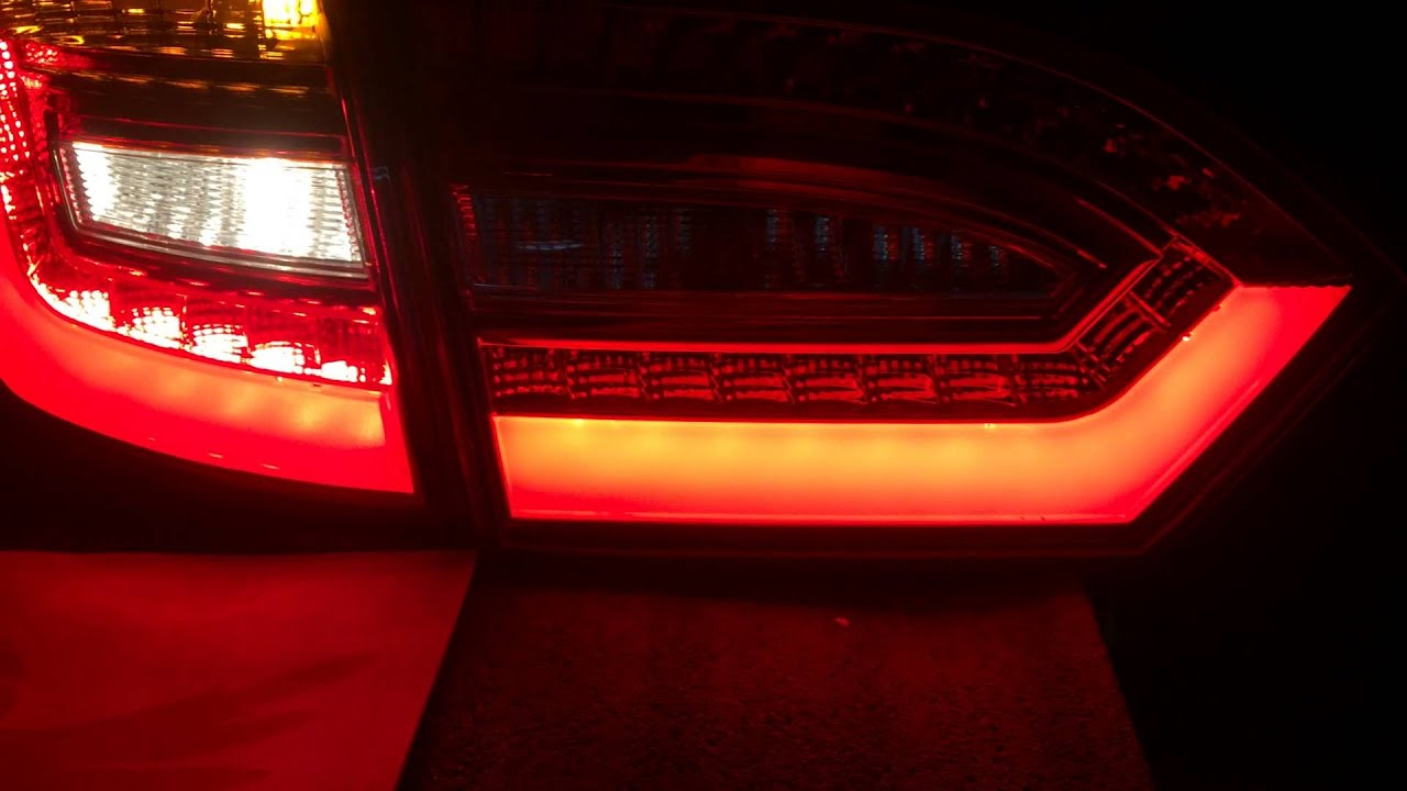 volkswagen jetta mk led tail light audi style youtube