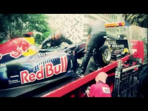 Red Bull F1 Showcar at Man Mo Temple