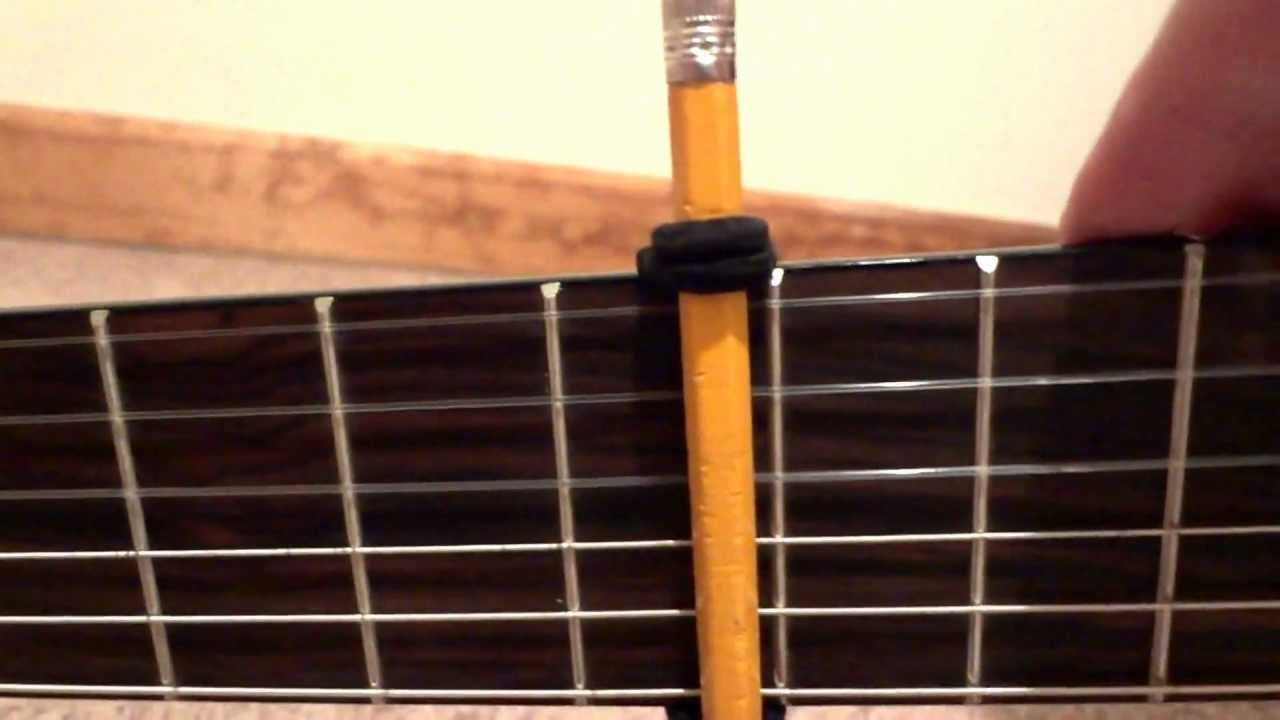 Cheap Or Priceless Guitar Capo Pencil Rubber Bands