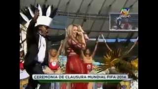 shakira la la la closing ceremony 2014 fifa world cup brazil