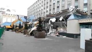 Москва.Снос торгового центра Пирамида.