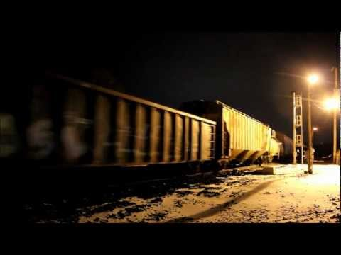 CSX Night Action at Haley Interlocking, Terre Haute, IN, 02.02.13
