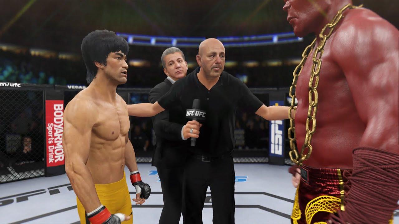 Bruce Lee vs. Red Titan - EA Sports UFC 4 - Epic Fight 🔥🐲
