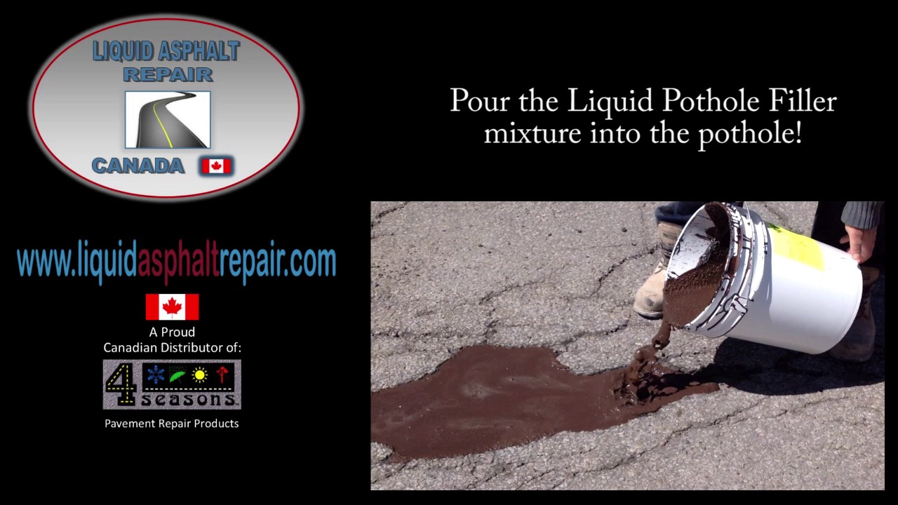 liquid asphalt repair youtube