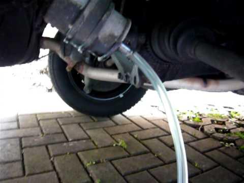 Volvo V70 Cabrio >> Tank abpumpen - YouTube