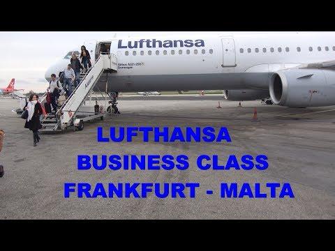 Lufthansa Business Class Frankfurt - Malta A321 4K