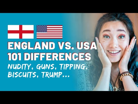 101 Differences Between England & USA | Cultural Differences USA Vs England | Americans In England