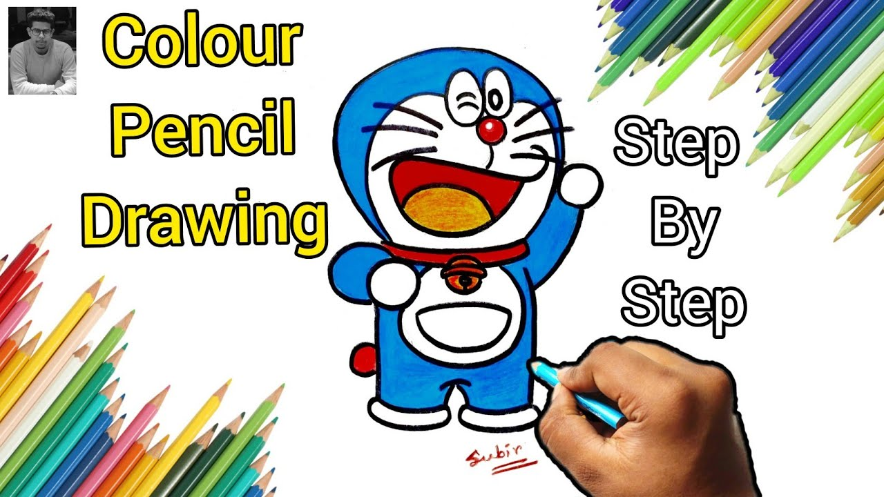 Doraemon Drawing - Easy Step by step | Colour Pencil Art # ...