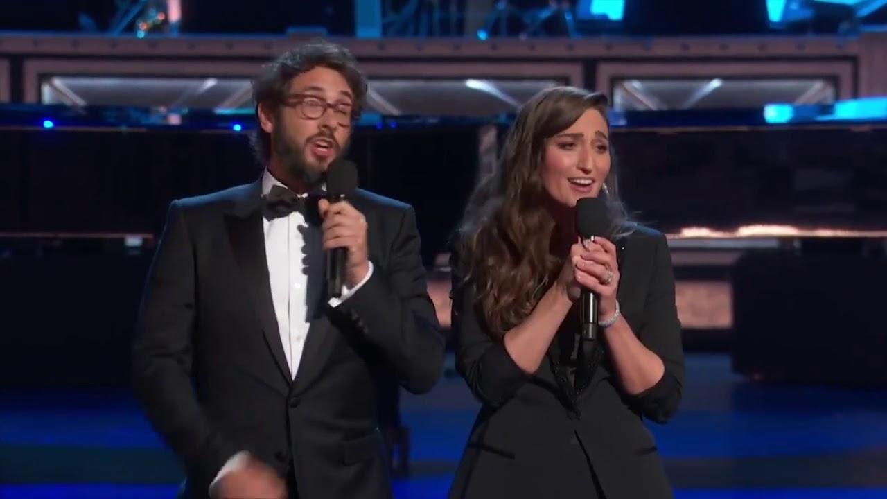 Sara Bareilles Josh Groban Tony Awards Opening