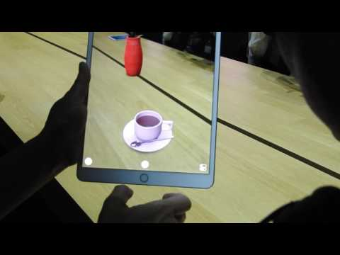 Apple's augmented reality demo on iPad
