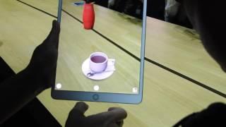 Apple's augmented reality demo on iPad