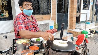 Mumbai Man Selling Dosa on Cycle from 25 Years | Indian Street Food