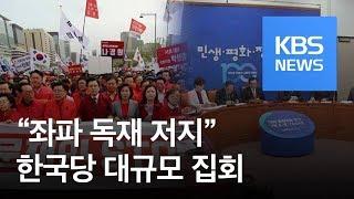 """한국당 대규모 집회 """"좌파 독재 저지""""…민주당 """"민생 팽개쳐"""" / KBS뉴스(News)"""