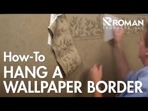 How to Hang a Wallpaper Border
