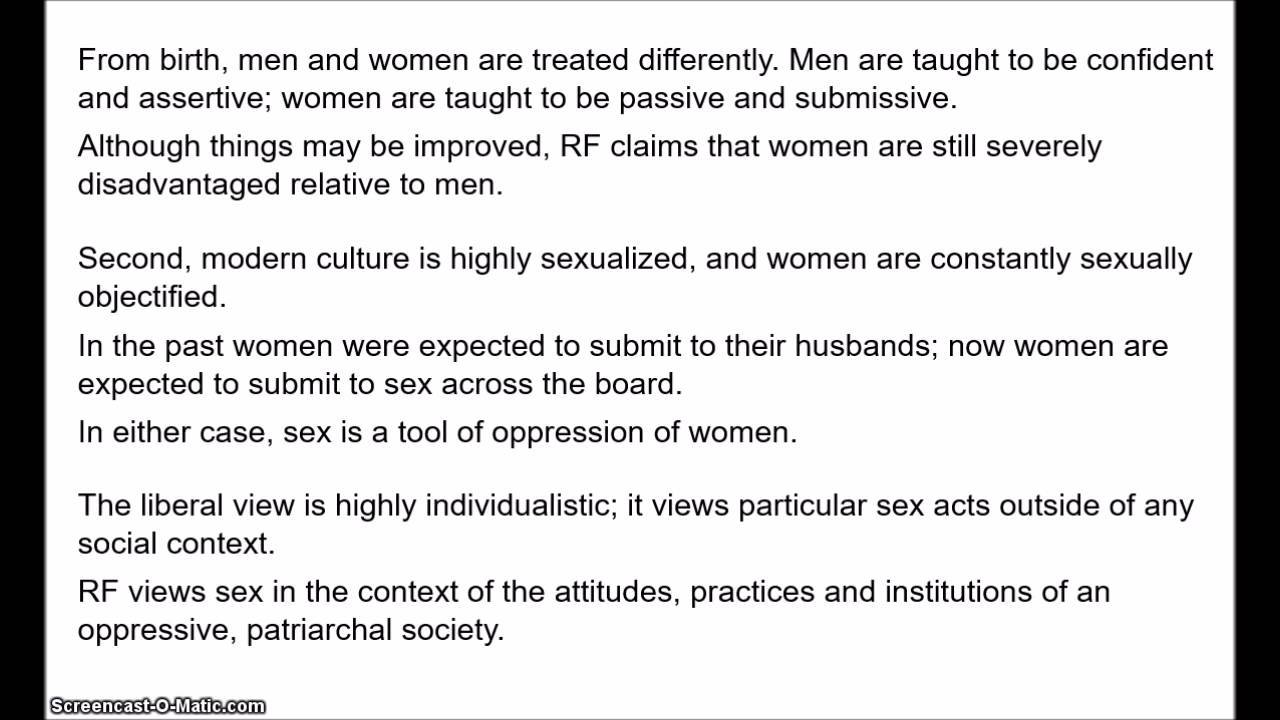 liberal views on sex