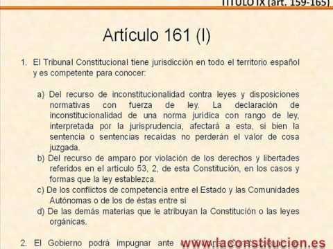 Titulo IX - Tribunal Constitucional - de la Constitucion