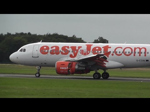 WIZZAIR A320 FROM RIGA & EASYJET LANDING @ DONCASTER AIRPORT UK