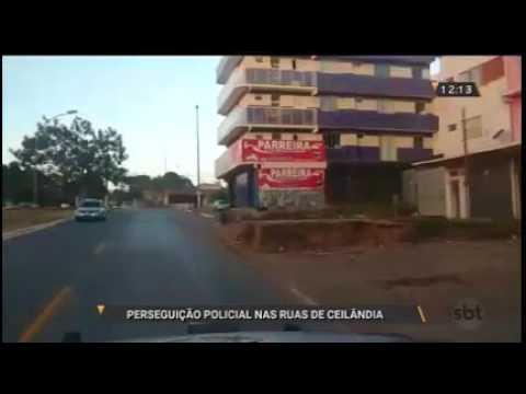 Perseguição policial nas ruas de Ceilândia