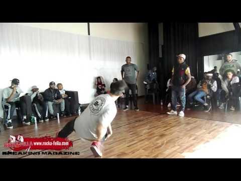 Street Knowledge 2on2 Bboy battle : Demolition Squad VS Bax & F1   Rocka-Fella TV .South Africa