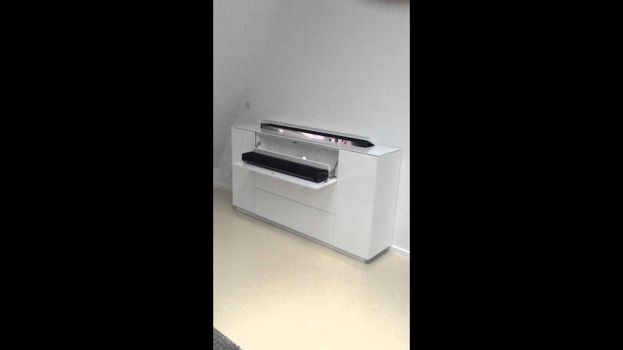 meuble tv motorise elegance technologie