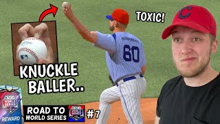 i faced the most TOXIC player in history.. KNUCKLEBALLER! ROAD TO WORLD SERIES #7 (mlb the show 20)