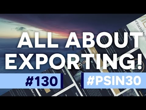 All About Export & Exporting - Photoshop CC Tutorial