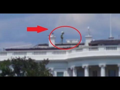 Na dachu Białego Domu nagrano KOSMITĘ? Nagranie obcego wywołało kontrowersję…?